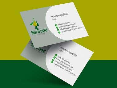 Business Card Design Oliva & Laurel
