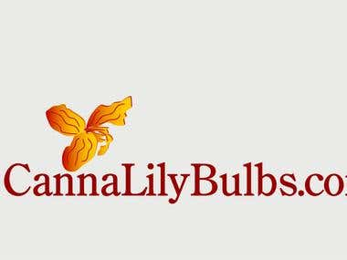 Logo for company selling canna lily bulbs