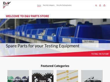 Spare Parts eCommerce Site