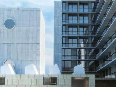 Exterior 3D building
