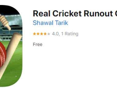 IOS Game development (Real Cricket Runout Championship)