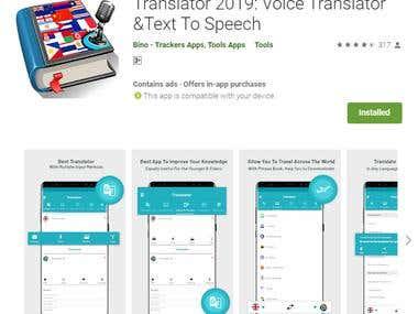 Translator 2019: Voice Translator &Text To Speech