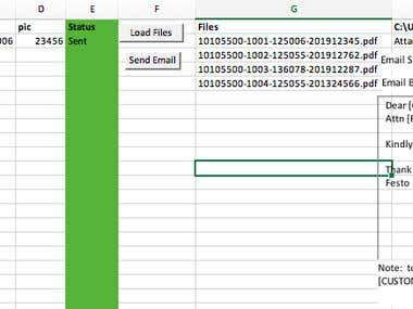 Excel bulk emailing using macro