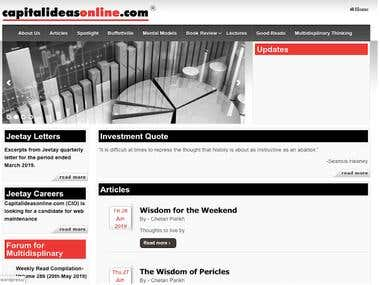Capital Ideas Online