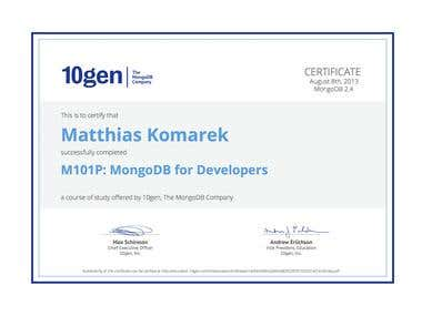 Mongo DB Certificate