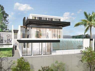 Visualization of modern Villa
