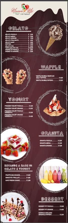 Ice-Cream menu