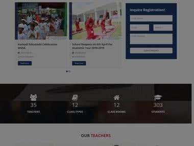 School management website