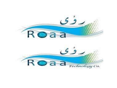 """""""Roaa"""" technology company logo"""