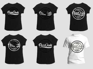 """Pure Oasis"" T-shirt designs"