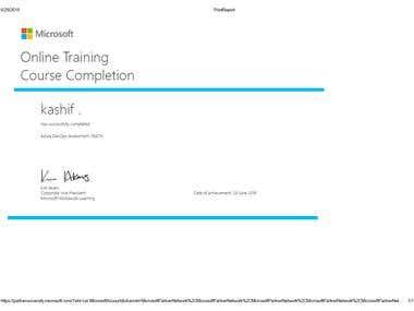 Azure DevOps Assessment 18473 Certificate
