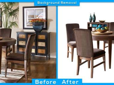 Furniture background removal
