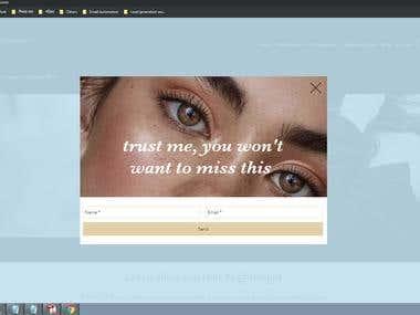 pop up making at website