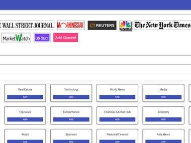 RSS feed site(Reactjs using jumbo theme)