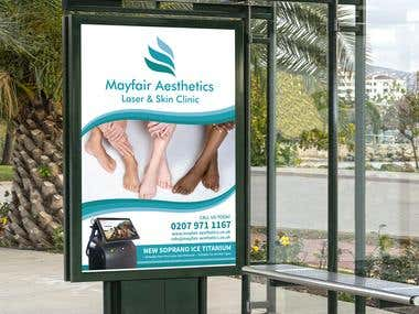 Poster Design for Mayfair Aesthetics