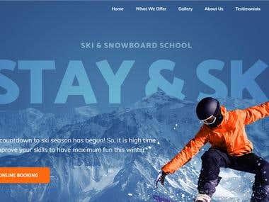 Website mountain snowboard school
