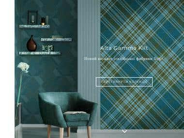 "Website of the interior salon ""MEMPHIS"""