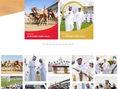 Website for Dubai Camel Racing Club