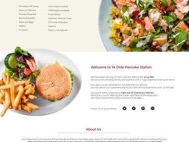 Pancake Restaurant Website Design