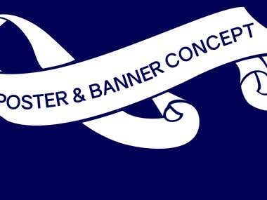 poster & banner design concept