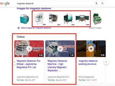Industrial Product Ranking On Google - #1 Position