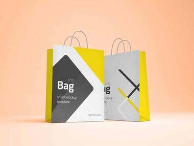 I Will Design Shopping Bag For Your Own Company & Mock Up