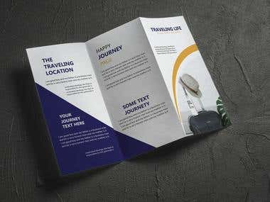 I will design a modern trifold brochure or flyer