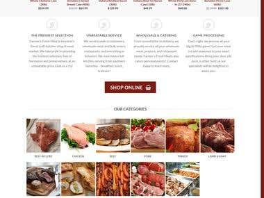 Fresh Meat Woocomerce Online Store