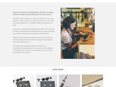 Wordpress Flatsome Theme Jewellery Site