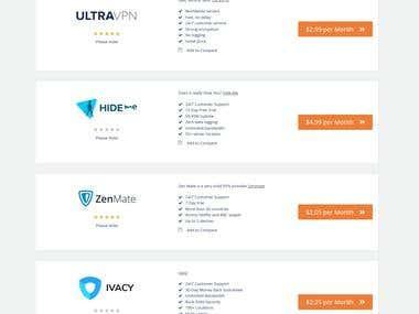 VPN Comparsion Wordpress Site