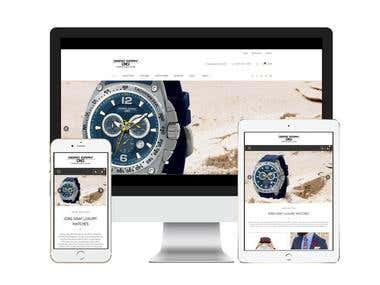 Development of a website for a watch company