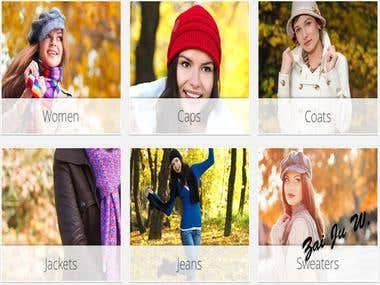 For Caps E-commerce Website - Laravel Framwork & Angular.js