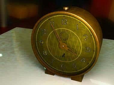 3d photorealistic rendering of clock.