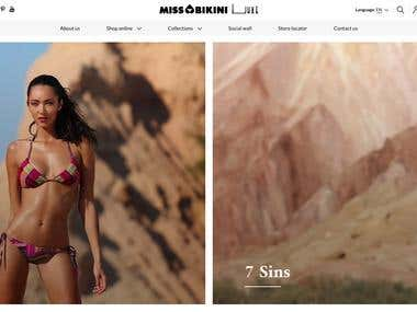 Build Shopping Website like Miss Bikini