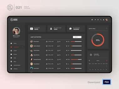Backend Admin Dashboard Development