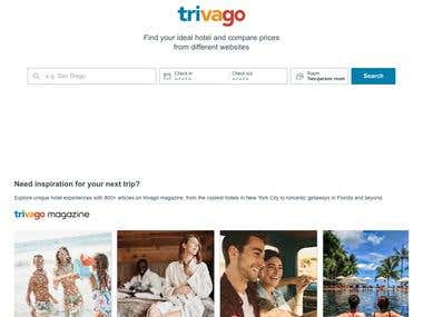 Build Reservation Website like Trivago