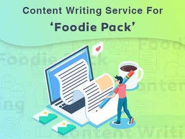 Content Writing Foodie Pack