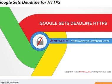 Article for Google Sets Deadline for HTTPS
