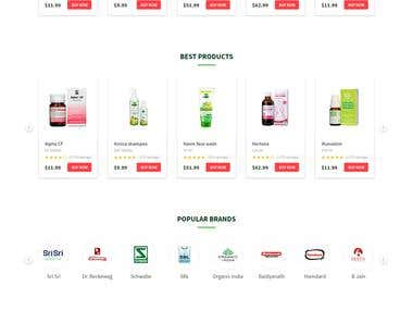 Homeopathy Landing page