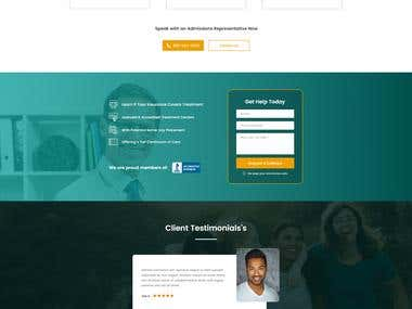 Landing page for rehab