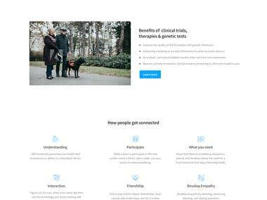 Landing page for perception