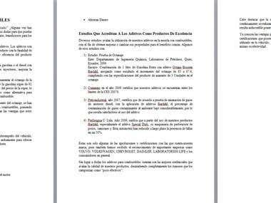 Redacción de Artículo para Web de Aditivos para Combustible
