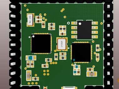PCB layout board design