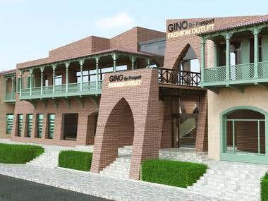 Mall exterior design 1