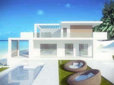 Modern Villa day scene