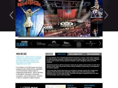 Stage Equipment Supplier Webpage