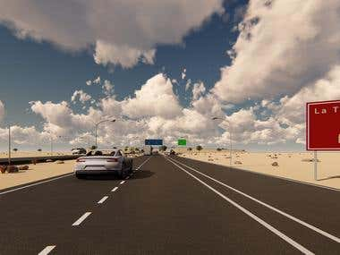 Modelamiento y Video 3D Virtual Carretera (Tramo 3.3)_ Chile