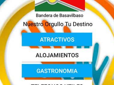 App Turismo Basavilbaso Welcome Screen