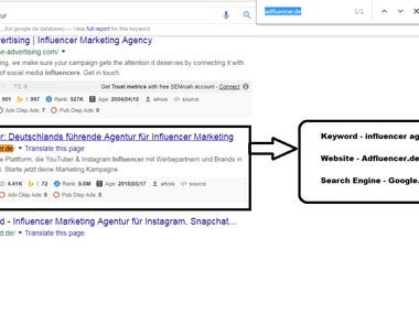 Google.de First Page ranking