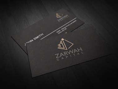 Zarwah Capital Business Card